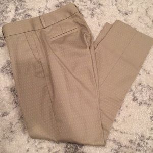 Gold Skinny Ankle Pants